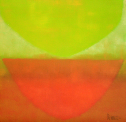ABSTRACT IN LINE AND ORANGE, KATE MCGUINNESS