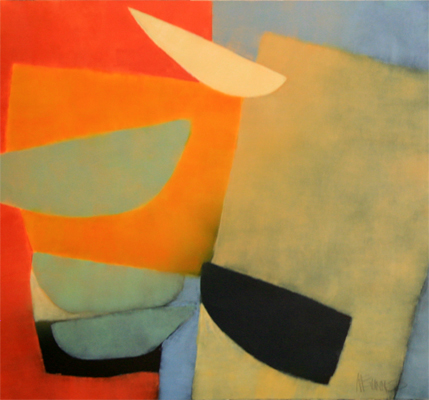 ABSTRACT IN RED, ORANGE, BLUE, KATE MCGUINNESS