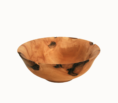 MEDIUM MAPLE BURL WOOD BOWL, BILL BAHRET