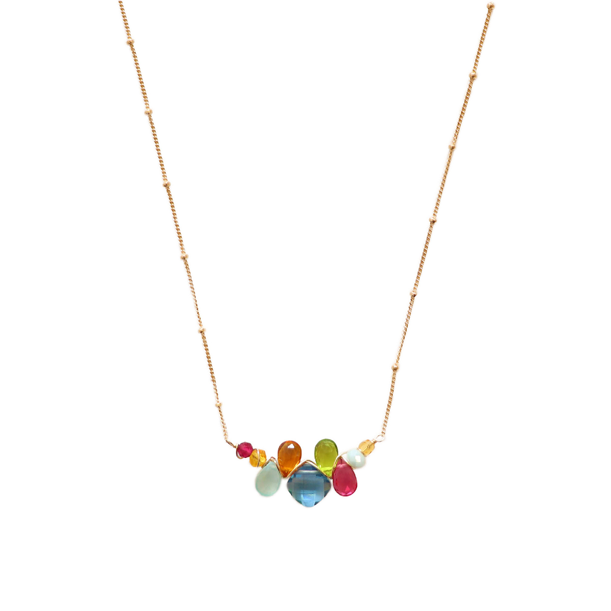 SPINEL & MIXED GEMSTONE NECKLACE, ANNA BALKAN