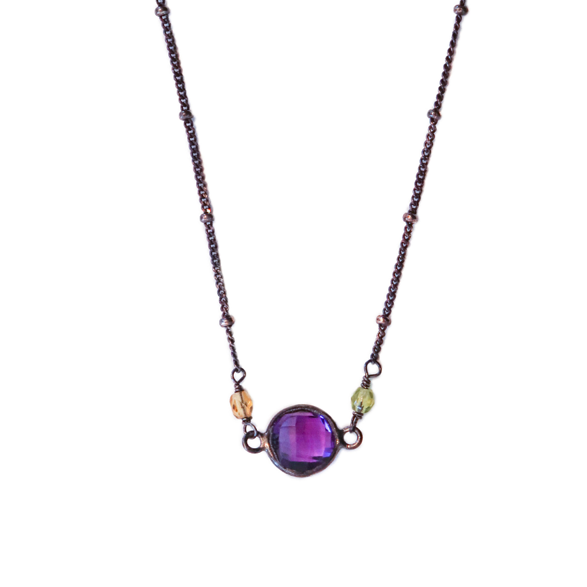 ANNA BALKAN - AMETHYST LAYERED NECKLACE - GEMSTONES