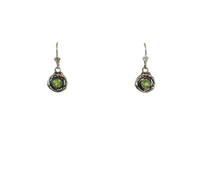 DOUBLE TWIG PERIDOT CIRCLE EARRINGS, MICHELENE BERKEY