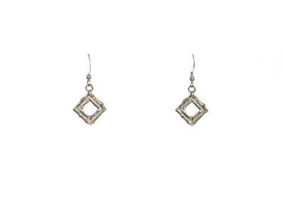 DOUBLE TWIG SQUARE EARRINGS, MICHELENE BERKEY