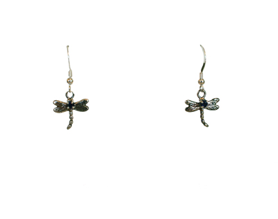 DRAGONFLY EARRINGS WITH BLUE SAPPHIRE, MICHELENE BERKEY