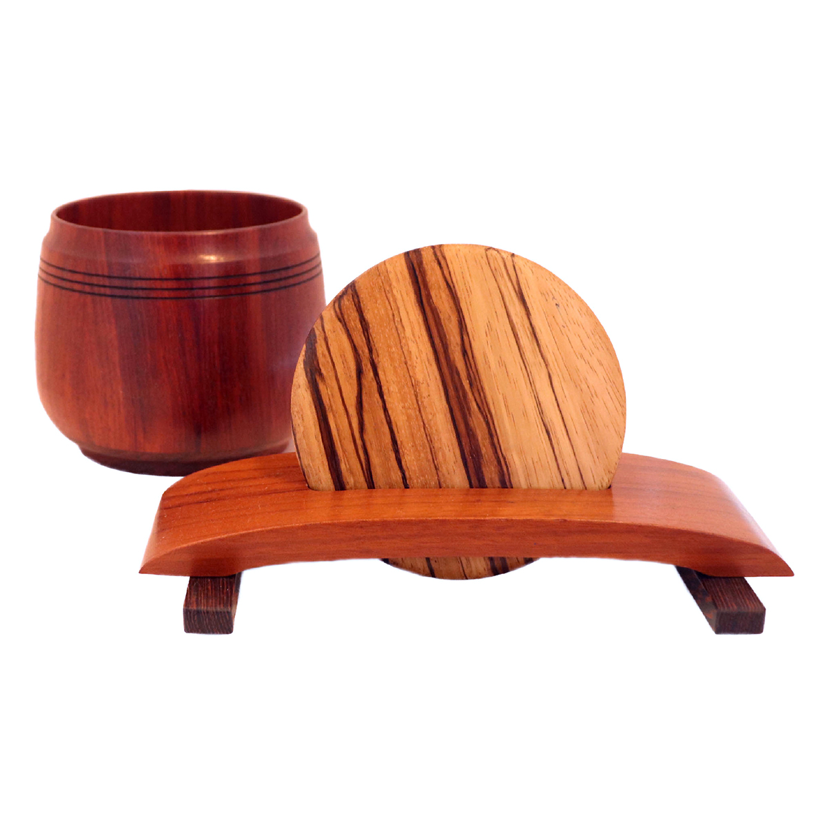 KEEPSAKE BOX-BUBINGA WITH ZEBRA LID, TOM BORUSKY