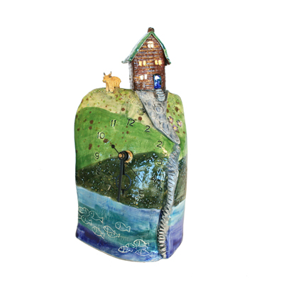 HOUSE ON A CLIFF CLOCK, MARIA COUNTS