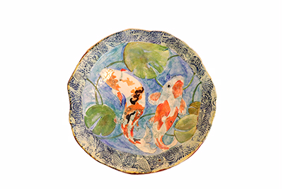 KOI POND PLATTER, MARIA COUNTS