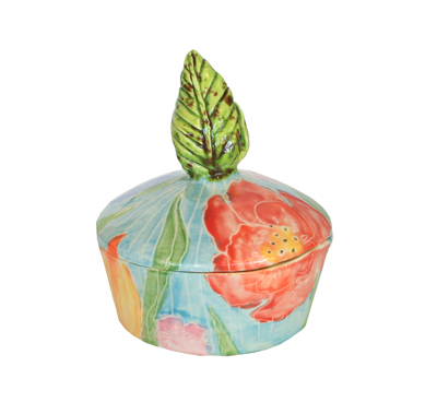 FLORAL LEAF HANDLE BOX, MARIA COUNTS