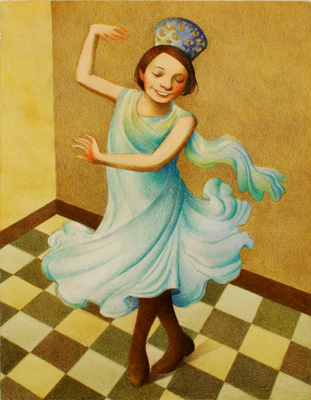 YOUNG GIRL DANCING, RAUL COLON