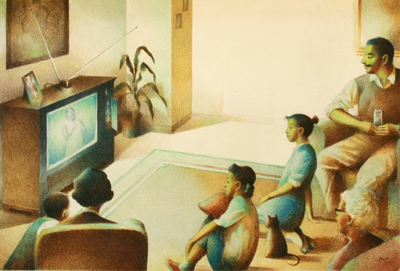 GATHERED AT TV, RAUL COLON