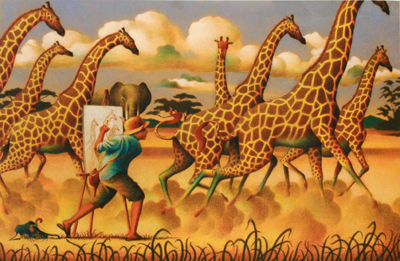 DRAWING GIRAFFES, RAUL COLON