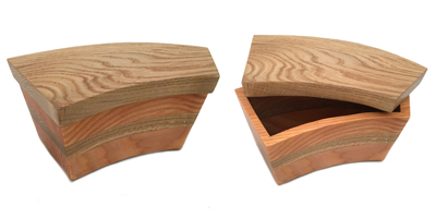 BANDSAW BOX DOUGLAS FIR AND OAK, LISA DALLENDORFER