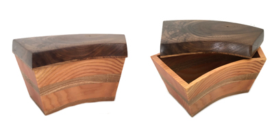 BANDSAW BOX DOUGLAS FIR AND OAK AND WALNUT, LISA DALLENDORFER