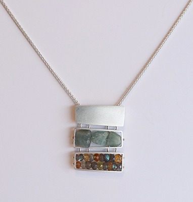 TRIPLE RECTANGLE NECKLACE, ASHKA DYMEL