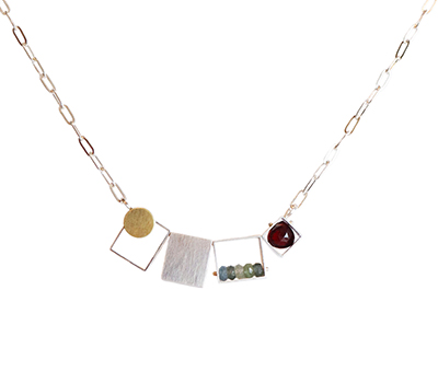 4 SQUARE NECKLACE, ASHKA DYMEL