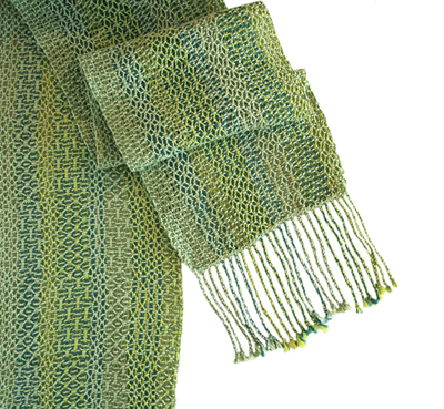 LENO SCARF - MULTIPLE GREENS, DEANNA DEEDS