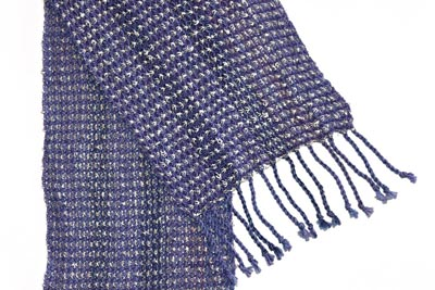 PURPLE AND BLUE SCARF, DEANNA DEEDS