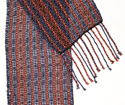ORANGE AND BLUE SCARF, DEANNA DEEDS