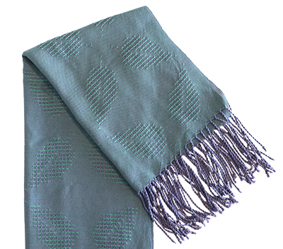 LEAVES IN LACE SHAWL/STOLE BLUE/PURP, DEANNA DEEDS