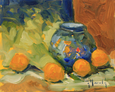 STILL LIFE WITH ORANGES, DEBORAH HAROLD