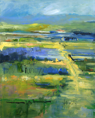 ABSTRACT LANDSCAPE - MONTECITO, DEBORAH HAROLD