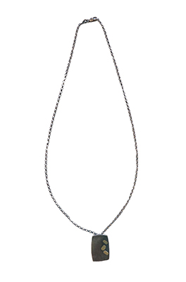 RECTANGLE NECKLACE WITH GOLD, KIRSTEN DENBOW