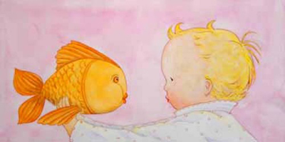 GOODNIGHT LIPS, BABY AND FISH, JANE DYER