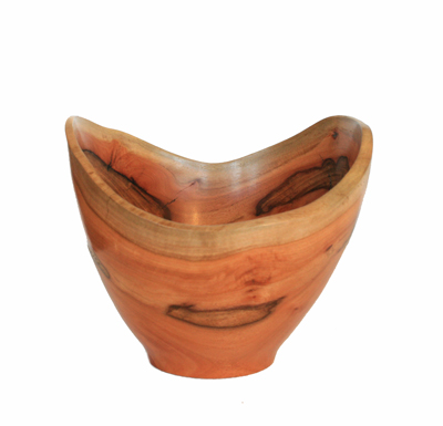 SCALLOPED RED GUM EUCALYPTUS BOWL, MICHAEL EVANS