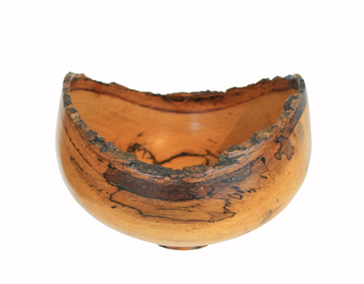 SPALTED MAGNOLIA NATURAL EDGE BOWL, MICHAEL EVANS