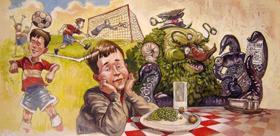 SOCCER, MONSTER & PEAS, MATT FAULKNER