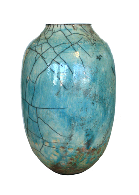 MEDIUM TURQUOISE POT, DALE FERGUSON