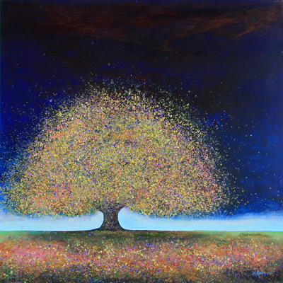 BLUE DREAMING TREE, MELISSA GRAVES BROWN