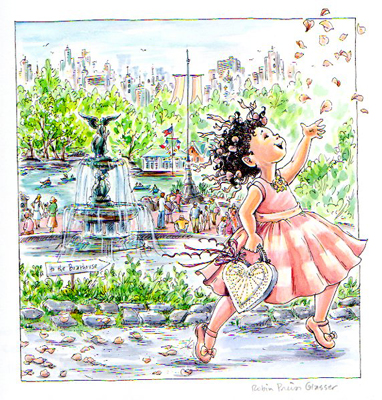 THROWING ROSE PETALS AT THE PARK, ROBIN PREISS GLASSER