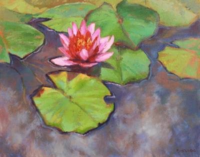 WATERLILY IN THE CLOUDS, BONNIE HOLMES