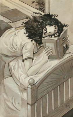 READING ON STOMACH, BRETT HELQUIST