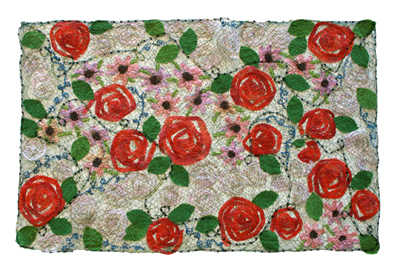 RED & WHITE ROSES WALL HANGING, MARY HAMMOND