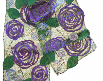 ROYAL ROSE SCARF, MARY HAMMOND