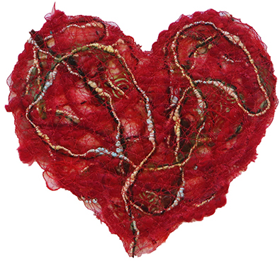 FIBER HEART IN PASSION RED, MARY HAMMOND