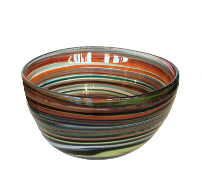 CRAYON BOWL - RASPBERRY, AQUA, ORANGE, HOKANSON DIX
