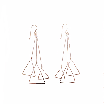 MULTI TRIANGLE EARRINGS, LAURA HUTCHCROFT