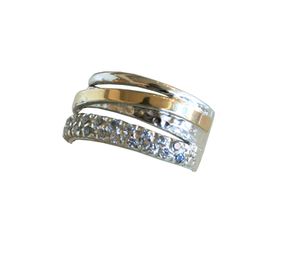 SILVER, GOLD AND CZ RING, ITHIL METALWORKS