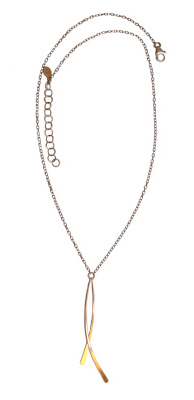 14KT GOLDFILL CURVED BARS NECKLACE, JESSICA AND IAN GIBSON