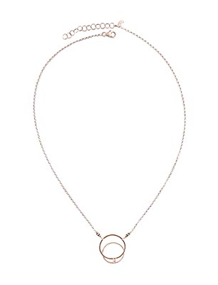 14KT GOLDFILL & STERLING CIRCLE NECKLACE W/  CZ, JESSICA AND IAN GIBSON