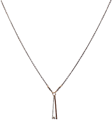 14KT GOLDFILL & STERLING DROP W/ CZ NECKLACE, JESSICA AND IAN GIBSON