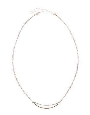STERLING & 14KT GOLDFILL SPLIT NECKLACE, JESSICA AND IAN GIBSON