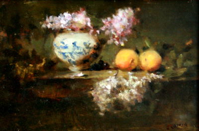 LILACS AND PLUOTS, JACQUELINE KAMIN