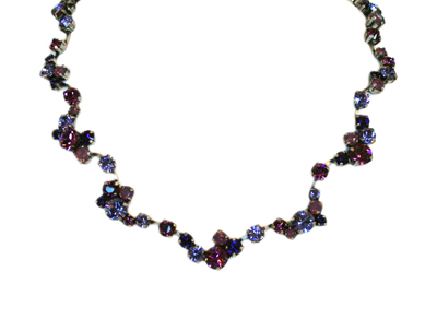 NECKLACE BALLROOM LILAC ANTIQUE SILVER, KONPLOTT