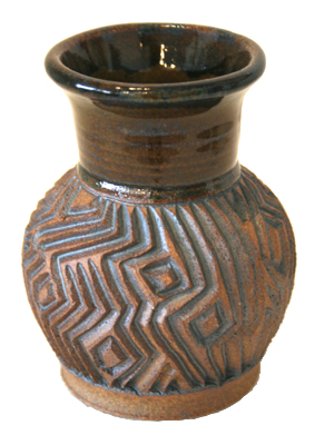 CARVED VASE - GEOMETRIC, CONNIE MAJOR