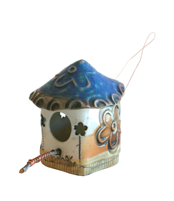 SMALL FLOWER CUTOUT BIRDHOUSE, LISA MERTINS