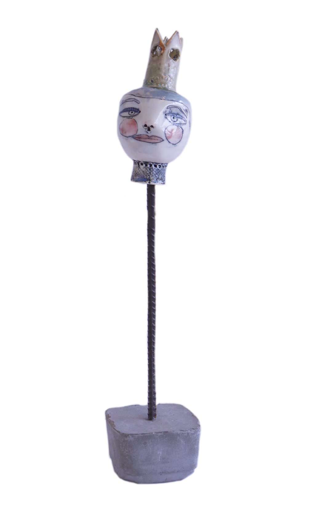 PUPPET WITH TALL CROWN, LISA MERTINS